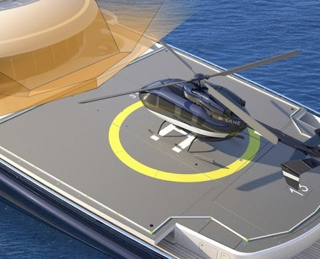 uperyacht helipad design. Certified Commercial Heli Pad aboard your yacht.