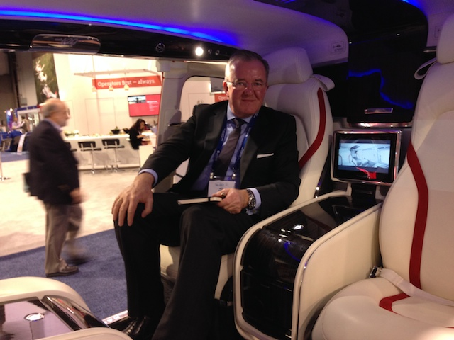 I was very impressed with the VIP configuration on show at the 2014 HAI Heli-Expo.