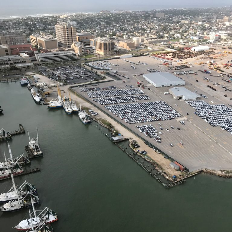Aerial View of Port at Galveston, TX