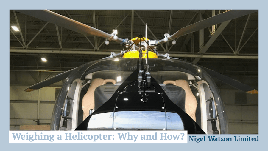 Weighing a Helicopter: Why and How?